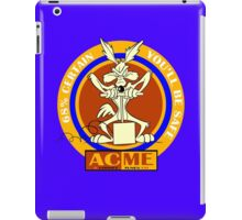 Wile E coyote acme  68% certain you'll be safe 2 geek funny nerd iPad Case/Skin