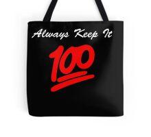 Keep it 100 Emoji Shirt alt Tote Bag