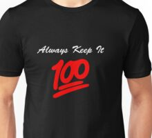 Keep it 100 Emoji Shirt alt Unisex T-Shirt