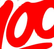Keep it 100 Emoji Shirt alt Sticker