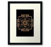 Yantra metatrons cube merkaba sacred geometry geek funny nerd Framed Print