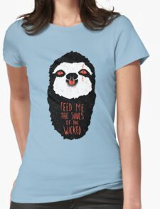 Evil Sloth Womens Fitted T-Shirt