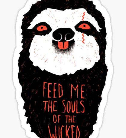 Evil Sloth Sticker