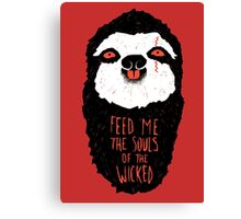 Evil Sloth Canvas Print