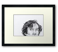 Sherlock is watching you... Framed Print