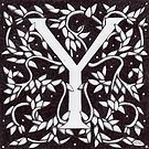 "Art Nouveau ""Y"" (William Morris Inspired) by Donnahuntriss"