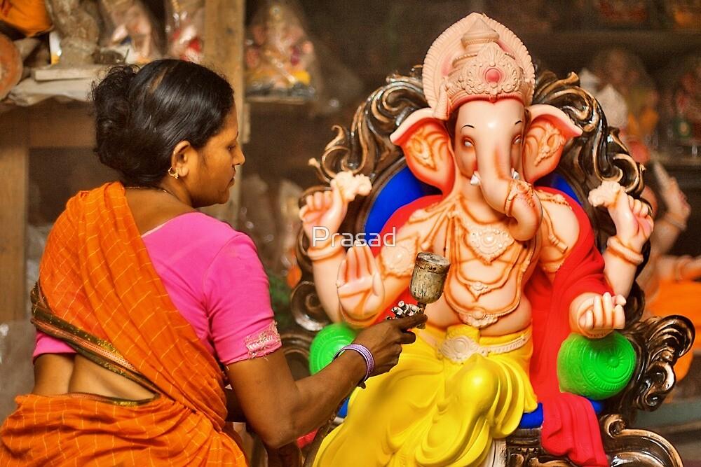 Making of the Ganesh idols #2 by Prasad