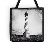 Hatteras Lighthouse photo sketch Tote Bag