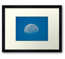 The Moon Today 8/30/2010 at 9:13 am Framed Print