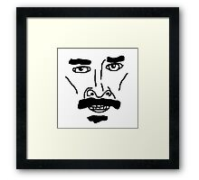 Shia TheBeef Face Framed Print