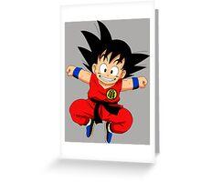 Goku Jump!  Greeting Card