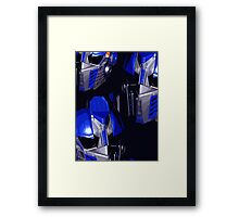 Optimus Prime Masks Framed Print