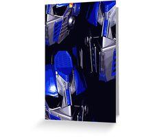 Optimus Prime Masks Greeting Card