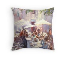 Sunshine through foliage.... in Bordeaux Throw Pillow
