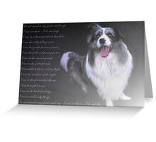 """In Precious Memory of Darling Mikey ..."" Greeting Card"