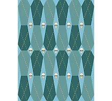 Coffin Plaid Blue Photographic Print
