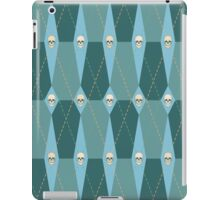 Coffin Plaid Blue iPad Case/Skin