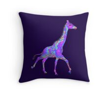 Psychedelic Giraffe Throw Pillow
