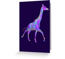 Psychedelic Giraffe Greeting Card