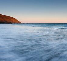 Dusk surging water, Makara Beach by Brendon Doran