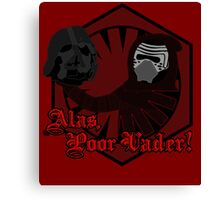 Alas, Poor Vader! (w/ text) Canvas Print