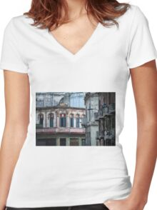 Aideu Cuba Women's Fitted V-Neck T-Shirt