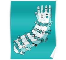 Bracelets and trinkets - blue Poster