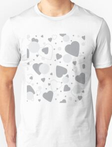 Romantic Pattern with hearts. Unisex T-Shirt