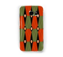 Coffin Plaid Red Samsung Galaxy Case/Skin
