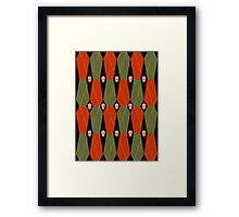 Coffin Plaid Red Framed Print