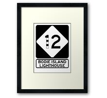 NC 12 - Bodie Island Lighthouse Framed Print