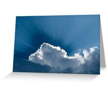 Heavenly-Clouds WIth Rays Greeting Card