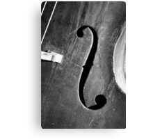 Jazz Bass Canvas Print