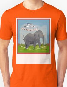 Kid's 'Jesus makes me Strong' Elephant from Phil 4.13 T-Shirt