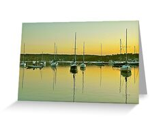 Sailboat Harbor Greeting Card