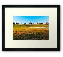 Kentucky Thoroughbred Horse Farm Framed Print
