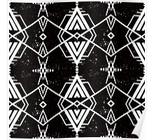 Ethnic pattern with Navajo motifs Poster