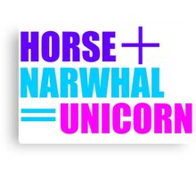 Horses and Narwhals Canvas Print