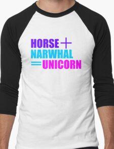 Horses and Narwhals Men's Baseball ¾ T-Shirt