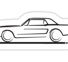 1964 65 66 Ford Mustang Hard Top Sticker