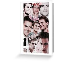 Paul Wesley Collage Greeting Card