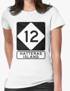NC 12 - Hatteras Island Womens Fitted T-Shirt