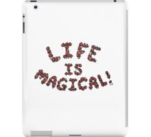 Life is Magical (red version) iPad Case/Skin
