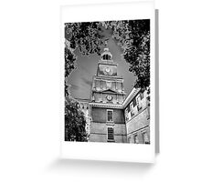 Independence Hall Chromed Greeting Card