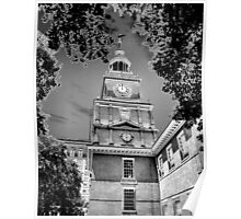 Independence Hall Chromed Poster