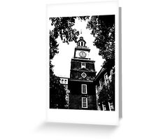 Independence Hall Blackened Greeting Card