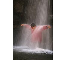 Under the Waterfall Photographic Print
