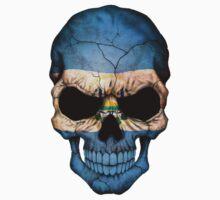 El Salvador Flag Skull by Jeff Bartels