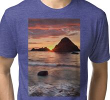 Shoreline Sunset Tri-blend T-Shirt