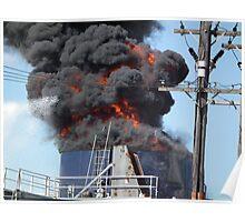 HUGE FLAMES and BLACK SMOKE - Tamworth NSW Poster